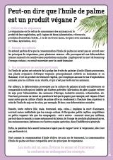 Fiche info : Peut-on dire que l'huile de palme est un produit végane ? - Florence Dellerie