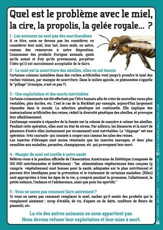 Fiche info : Quel est le problème avec le miel, la cire, la propolis, la gelée royale ? - Florence Dellerie