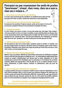 """Fiche info : Pourquoi ne pas consommer les œufs de poules """"heureuses"""" ? - Florence Dellerie"""