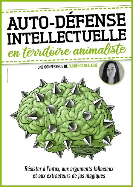 image_affiche_auto-defense_intellectuelle_animaliste_florence_dellerie