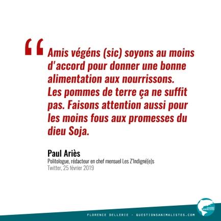 Citation Paul Ariès 2019