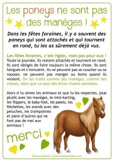 Les poneys de sont pas des manèges